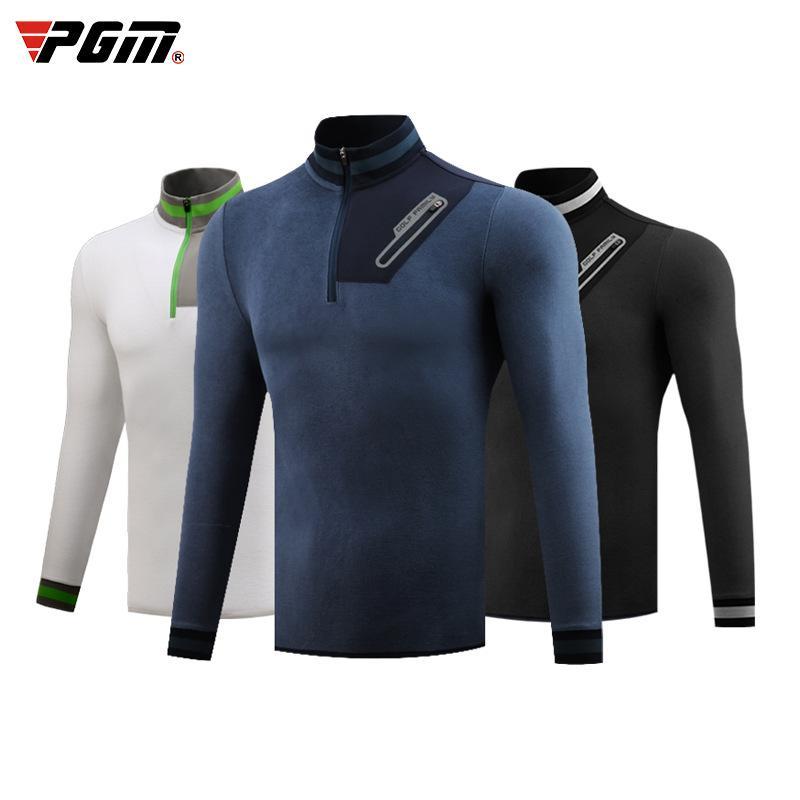 PGM Hommes Automne Hiver Vêtements de golf Sports de plein air chaud Veste coupe-vent à manches longues T-shirt Fermeture à glissière sport M-XXL D0837