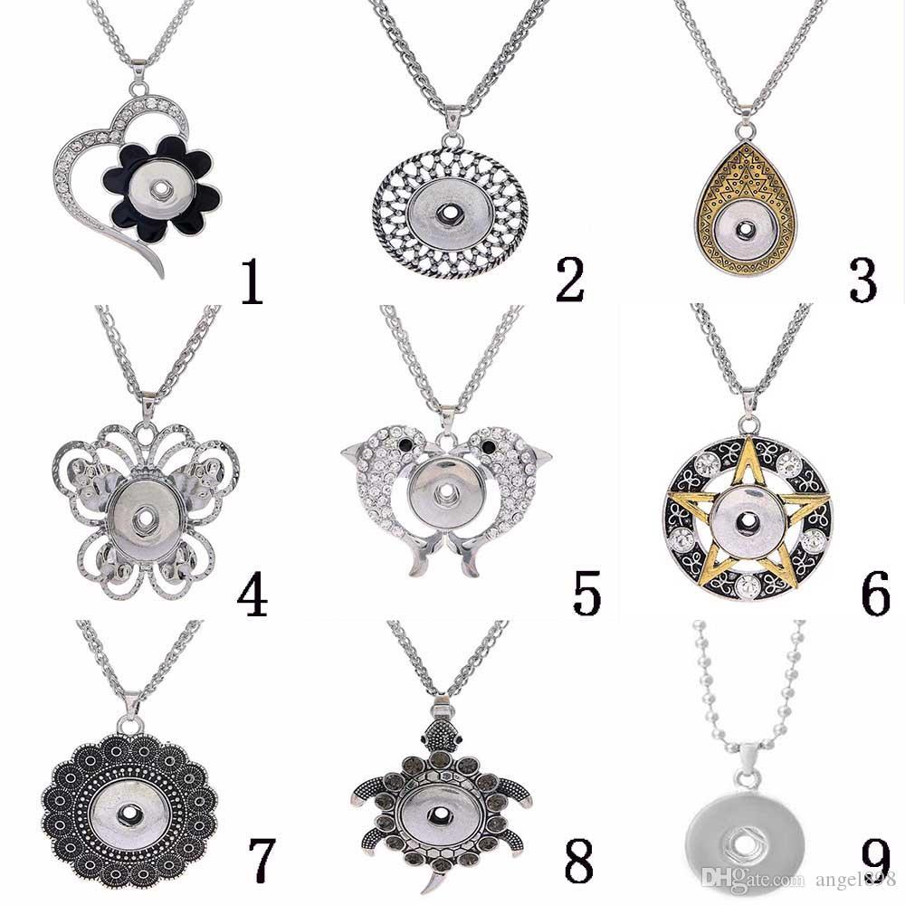 botões 10pcs muito nova venda 18mm quente sanp Noosa botão pendant diy ajuste charme 18 milímetros-20 milímetros tirar colar de jóias