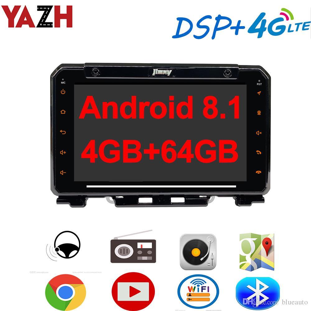 YAZH الروبوت 8.1 4GB 64GB سيارة دي في دي راديو الوسائط المتعددة لسوزوكي جيمني 2019 2020 مع 4K فيديو / SWC / OBD / Carplay / DSP / 4G بطاقة SIM