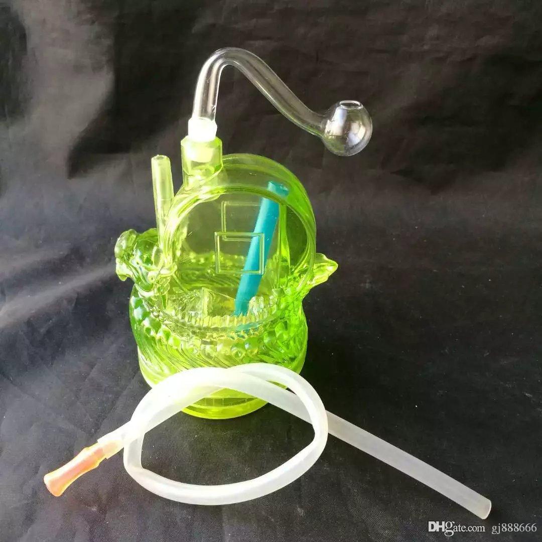 Canard accessoires bong en verre narguilé, en verre Pipes coloré mini-multi-couleurs Pipes à main meilleur verre cuillère tuyau