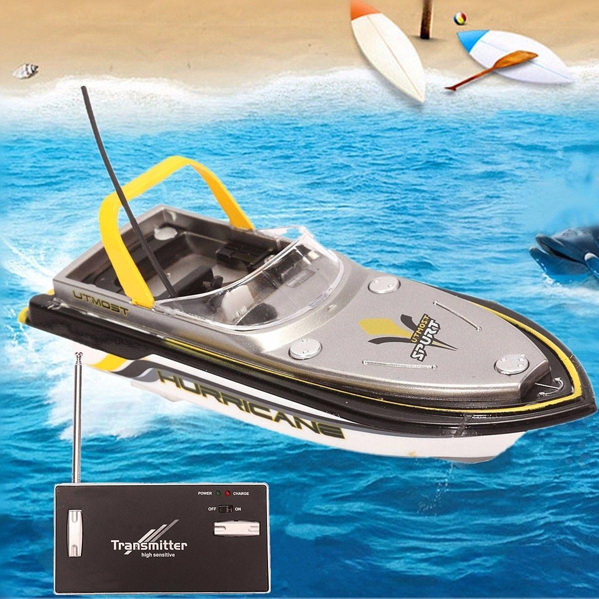 Radio RC elettrico a distanza doppia del motore della nave eccellente di controllo mini di velocità della barca giocattolo per bambini Quick Charge 40MHz regalo per il ragazzo intelligente Frequenza Y200414
