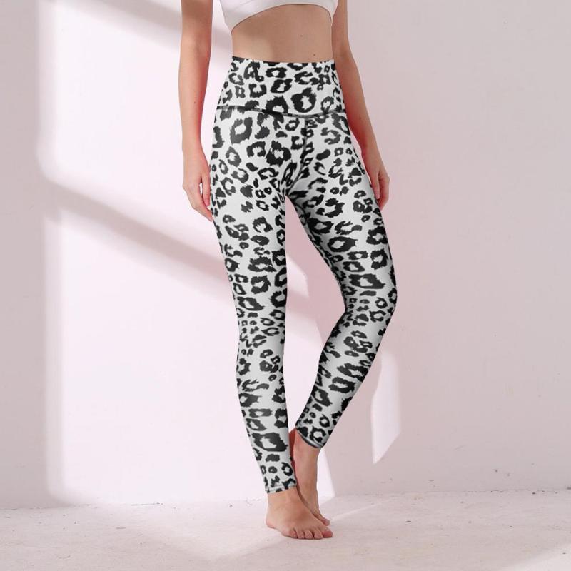 Polka dot Druck nahtlose Yoga Hose Frauen Hip-hohe Taillen-Leopard-Druck-Übung Yoga Outfits Laufen femme Sport T ligging @