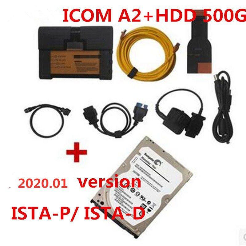 Preço de fábrica! B-M-W ICOM A2 + B + C diagnóstico ferramenta de programação com o Software (HDD) 500G 2020,01 versão