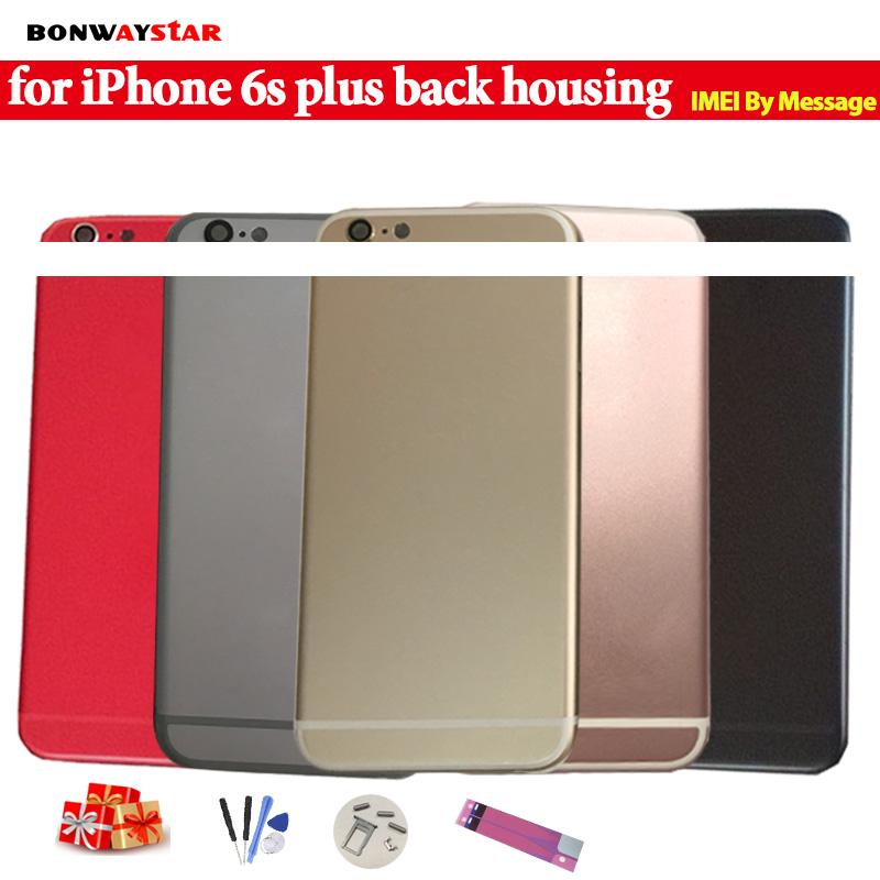 Chassis for iPhone 6S Plus Housing A1634 A1687 Battery Back Cover Coque Fundas+LOGO&Buttons&Sim Tray+Sticker+Tool+Custom IMEI