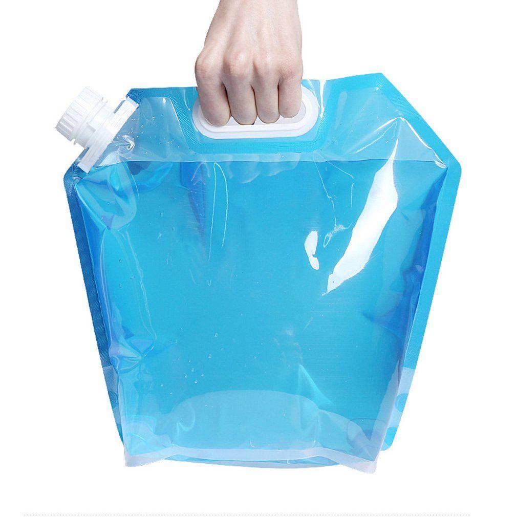 Outdoor Wasser Taschen Faltbare tragbare Trinken Camp Kochen Picknick Grill Wasser-Behälter-Beutel-Fördermaschine Car 5L / 10L Wassertank