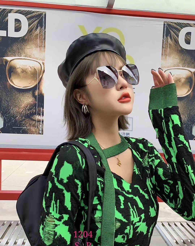 2019 mujeres de la marca de moda de lujo de diseño Gafas de sol 3081 Marco cuadrado Gran marco de verano generoso estilo de calidad superior del objetivo de protección UV