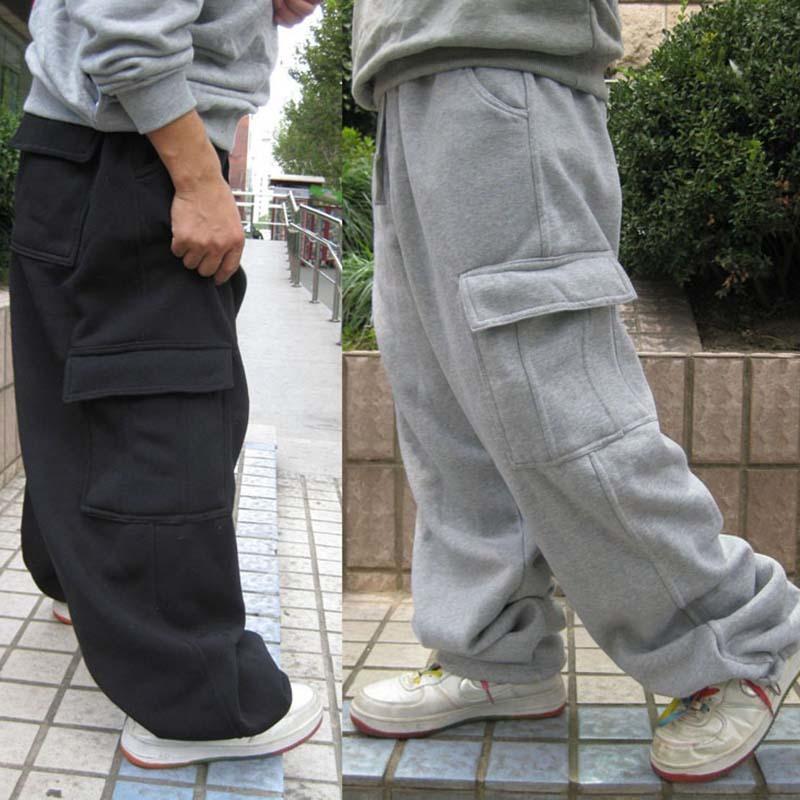 Utral Plus Size pantaloni della tuta di danza hip hop Mens pantaloni pantaloni casual pantaloni jogging allentato Cargo gamba larga poliestere Maschio Abbigliamento Y200518