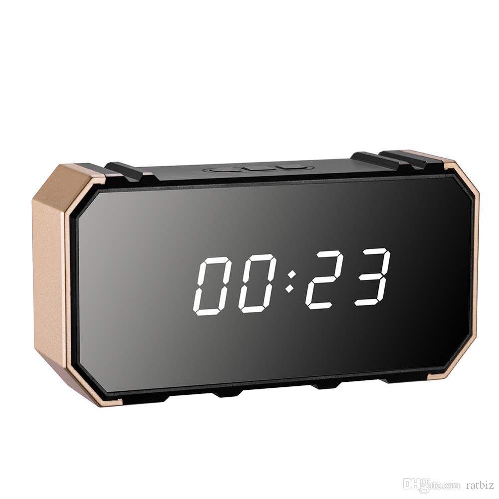 128 Go de mémoire WiFi caméra de surveillance Horloge 4K Full HD Mini Video Recorder Nanny Cam moniteur pour la sécurité Accueil avec Night Vision Cam PQ534