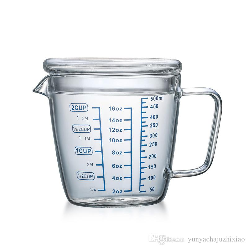 2019 250 Ml 500 Ml Milk Cup High Borosilicate Glass Measuring Cup With  Scale Band Cover Can Be Directly Heated From Yunyachajuzhixiao, $14 58 |