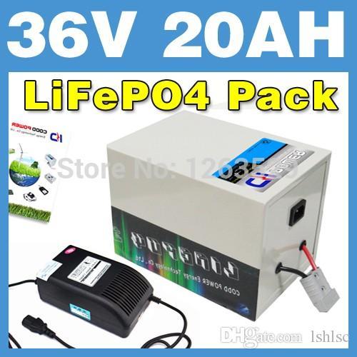 LiFePO4-Batterie-hinteres Zahnstangen-KASTEN-Lithium-Batterie-elektrischer Roller-Satz E-Fahrrad des 36V 20AH LiFePO4 Freies Verschiffen