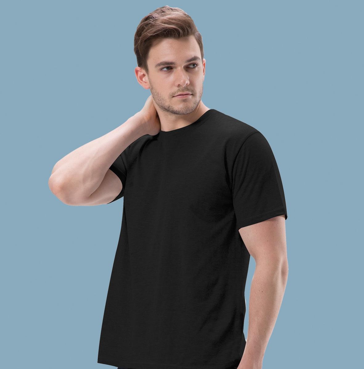 Grundlegende Artmens Designer Tshirts beiläufigen Normallack-loses Shirt klassisches Art-Männer-T-Shirt mit Rundhalsausschnitt
