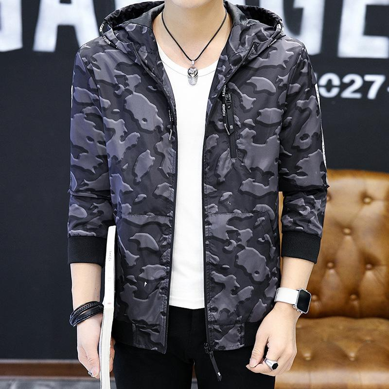 Sexy2019 Man Loose Coat Pattern Spring And Ji Hanban Trend Summer Thin Handsome Cool Time Camouflage Clothes Jacket J76