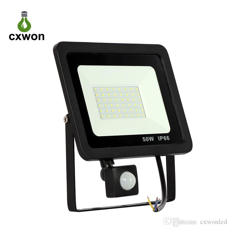 10W 20W 30W 50W 100W LED Floodlight PIR Sensor 150W 300W Outdoor Security Light