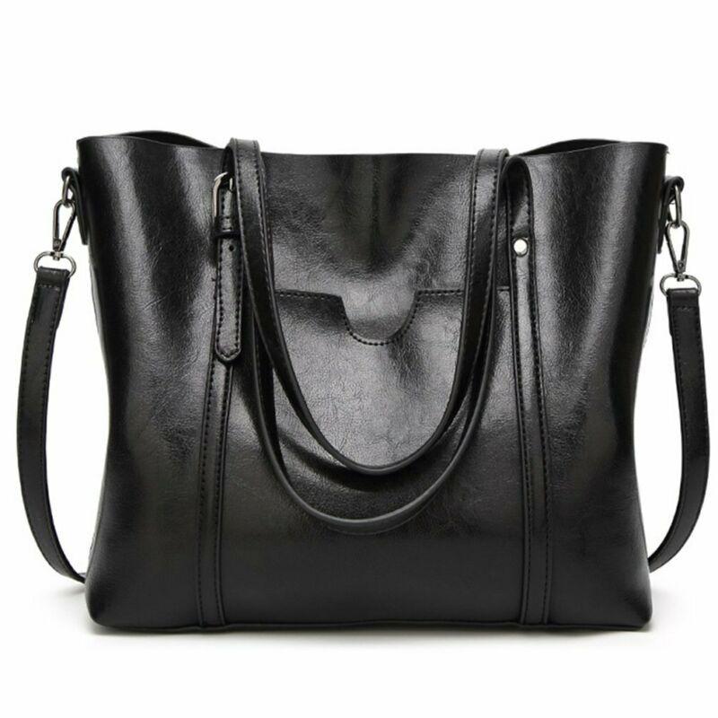 Damen Leder Öl Taschen Frauen Dame Handtaschen Hand Geldbörse Messenger Wachs Tasche mit Tasche Große Tasche Hlnkh