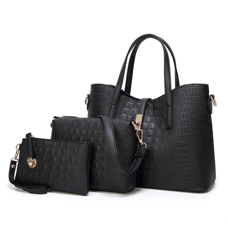 Borsa madre tre pezzi commercio estero nuovo sacchetto femminile europei ed americani di moda del coccodrillo del modello 2020 primavera