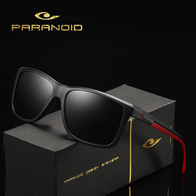 Paranoid 8652 Radsports polarisierte Sonnenbrille große Rahmen im Freien windundurchlässigen Sonnenbrille Herren-Brille