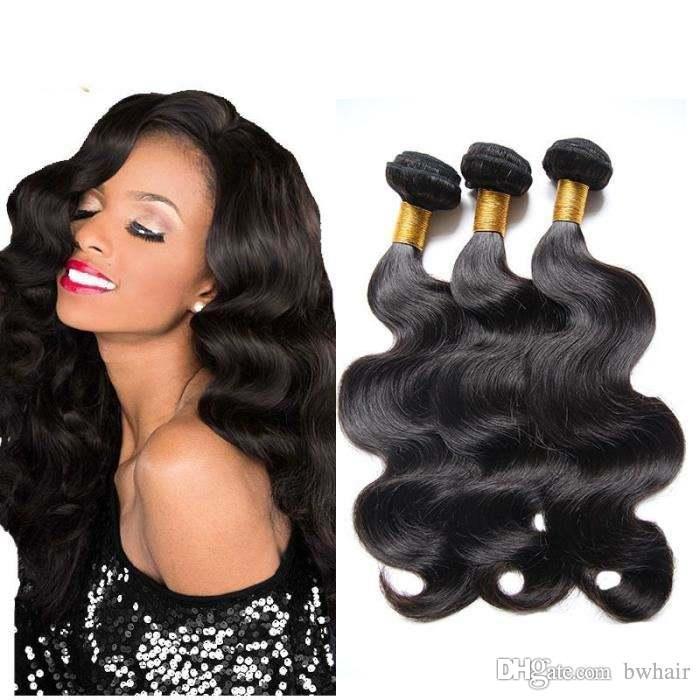 Лучшие продажи цена по прейскуранту завода-изготовителя Оптовая Европейский 100% человеческих волос натуральный черный волос утка тела weave наращивание волос