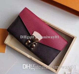 جودة المرأة المحفظة الفاصل والجلود حامل بطاقة مربع الأصلي فحص زهرة