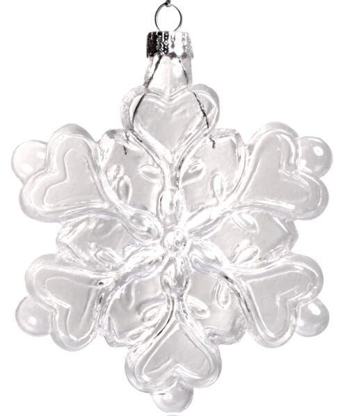 Promotion - Home Garden Party Ornaments Christmas Xmas 120*100mm Clear Snowflake Ornament Decoration, 5/Pack