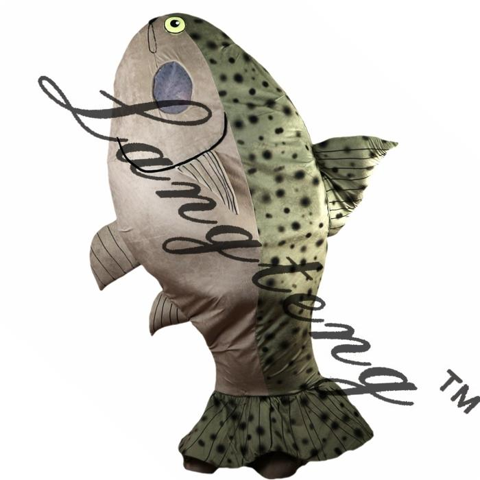 2019 Новое высокое качество рыбы талисман костюмы для взрослых цирк Рождество Хэллоуин Outfit Необычные платья костюм Бесплатная доставка