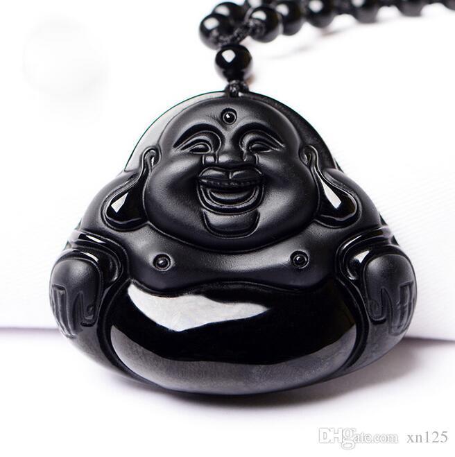 e das mulheres dos homens Atacado New fosco Natural de cristal Obsidian Maitreya pingente