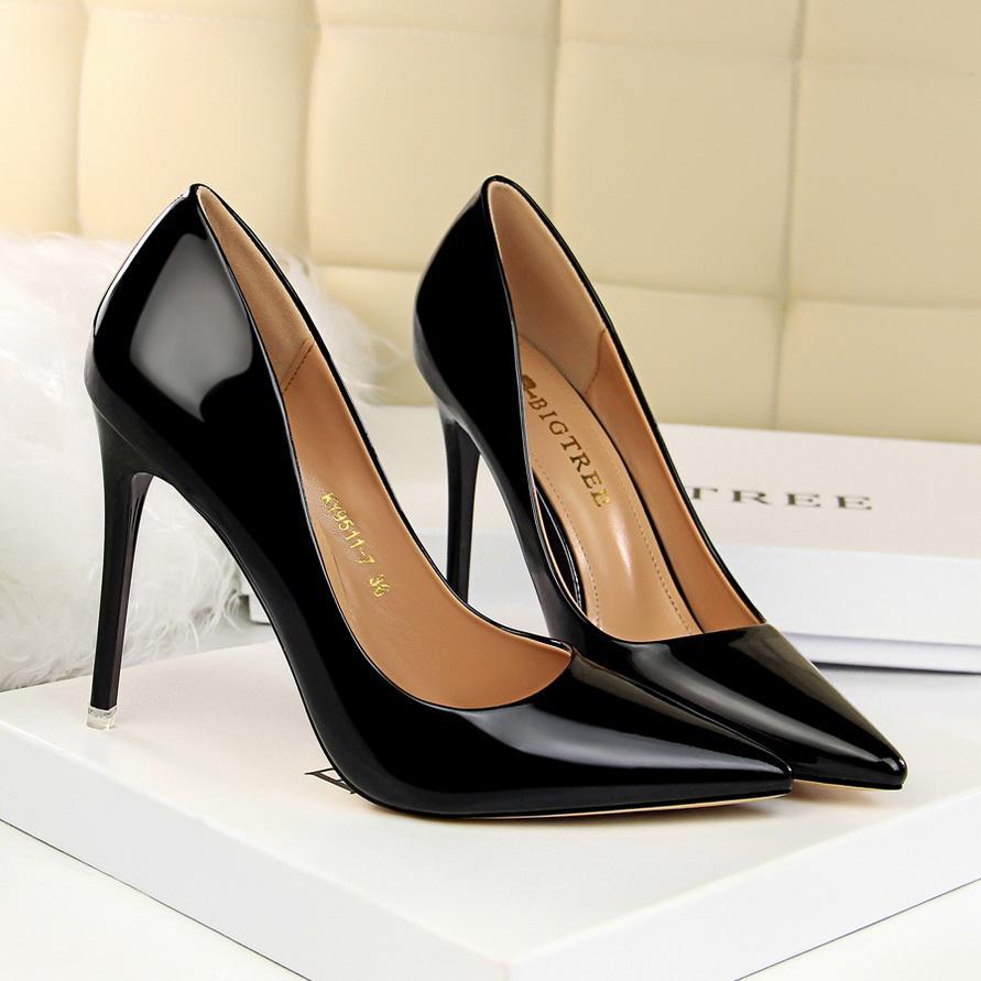 Дизайнер Крис женщин Sexy Высокие каблуки, дамы насосы женщин Розовый обувь лакированной кожи пятки Бесплатная доставка q66523
