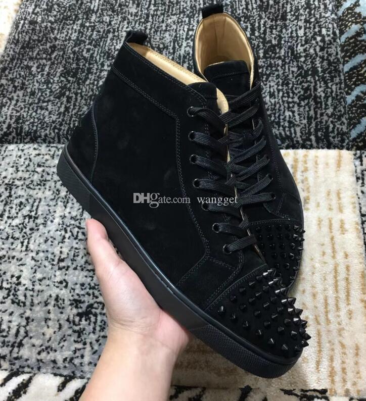 Di alta qualità pattini inferiori rossi della scarpa da tennis Donna Uomo Casual a piedi scarpe, moda Kanye West all'aperto Suede formatori con la scatola
