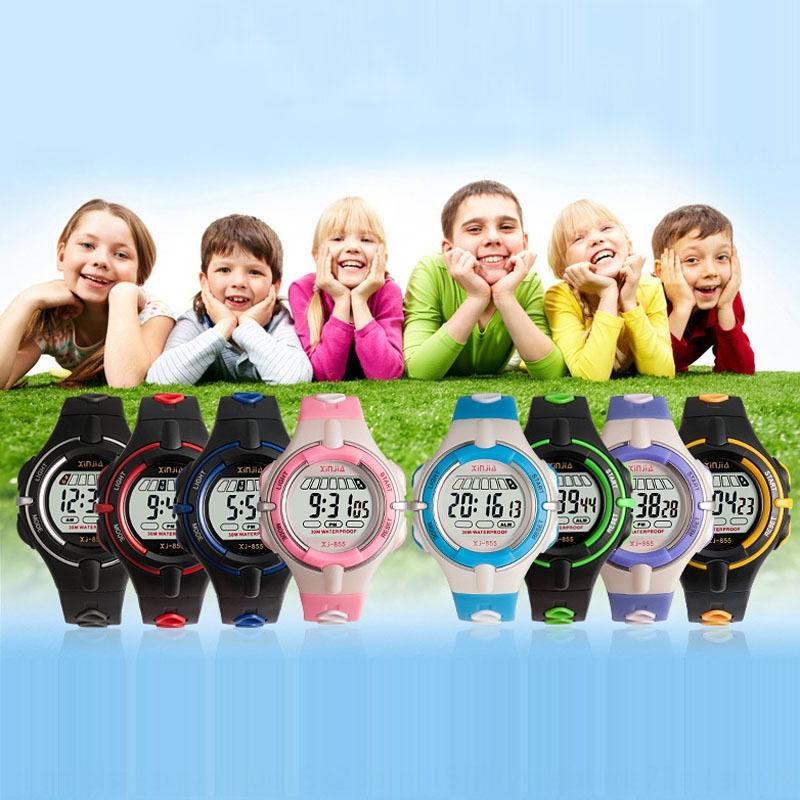 Children's boys and girls electronic life waterproof student digital Luminous Electronic watch sports watch luminous boys and girls