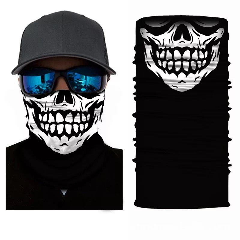 Schädel Gesichtsmaske Schal Heandband Balaclavas Magie Turban Bandanas Hals Snood Anti-Staub Radfahren Motorrad Halloween Party Headwear Masken