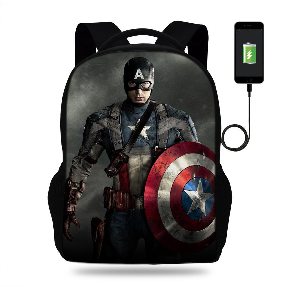 Avengers messenger Bag Travel Bag Child Kids boy or Girl Adult school Laptop