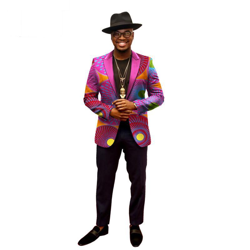 Весенние Пиджаки Мужчины Блейзер Костюм Homme Africa Bazin Riche 6XL Мужская Одежда Vestidos Formales Бесплатная Доставка 6xl BRW WYN202