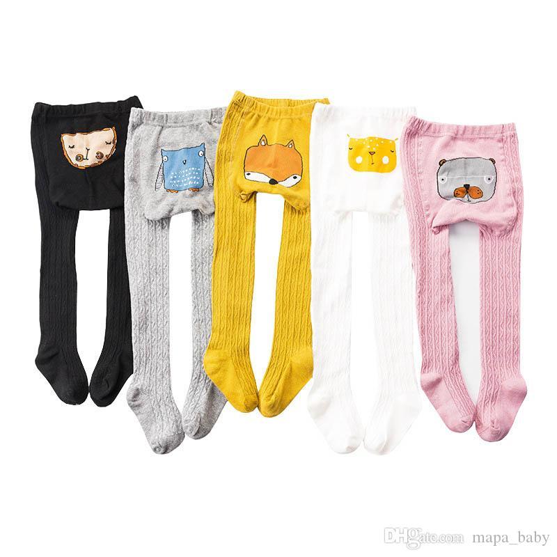 Toddler Girls Cotton Cartoon Warm Tights Leggings Stockings Pants Pantyhose Knit Cotton Leggings Pants Cartoon Socks