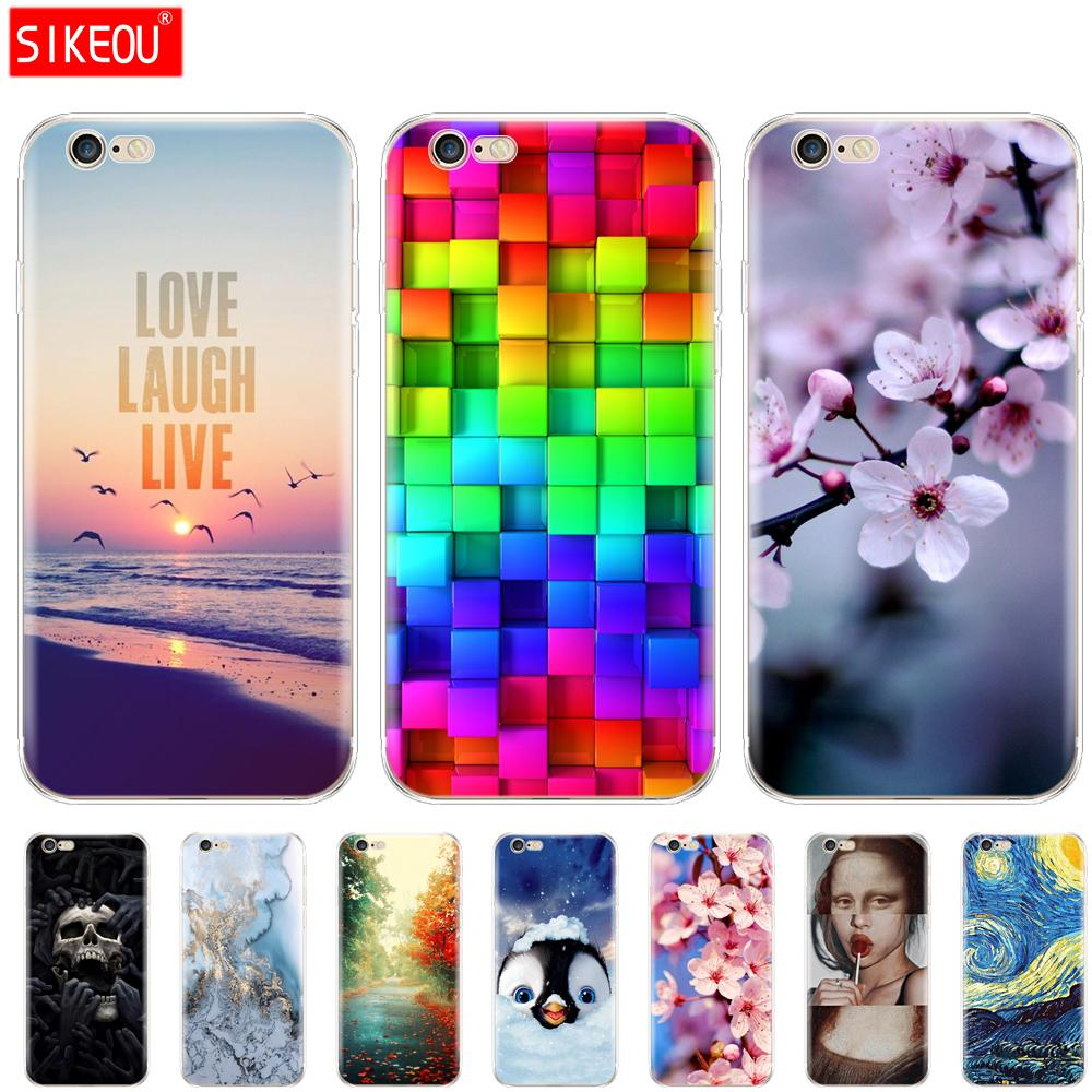 silicone Case For iphone 5s 5 s se 4 4s Case soft tpu phone Shell Cover For Apple iPhone 6s 6 s plus Fundas coque etui bumper