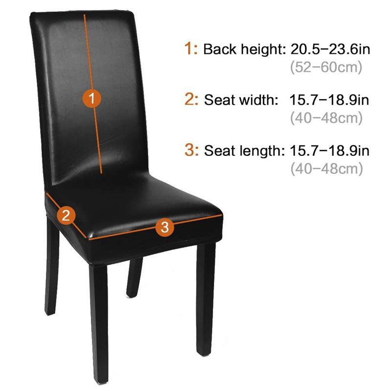 Ev Dekoratif için Sandalye Kapak slipcover Yemek Sandalye Kapaklar Yemek, Katı Pu Deri Su geçirmez ve Oilproof Stretch