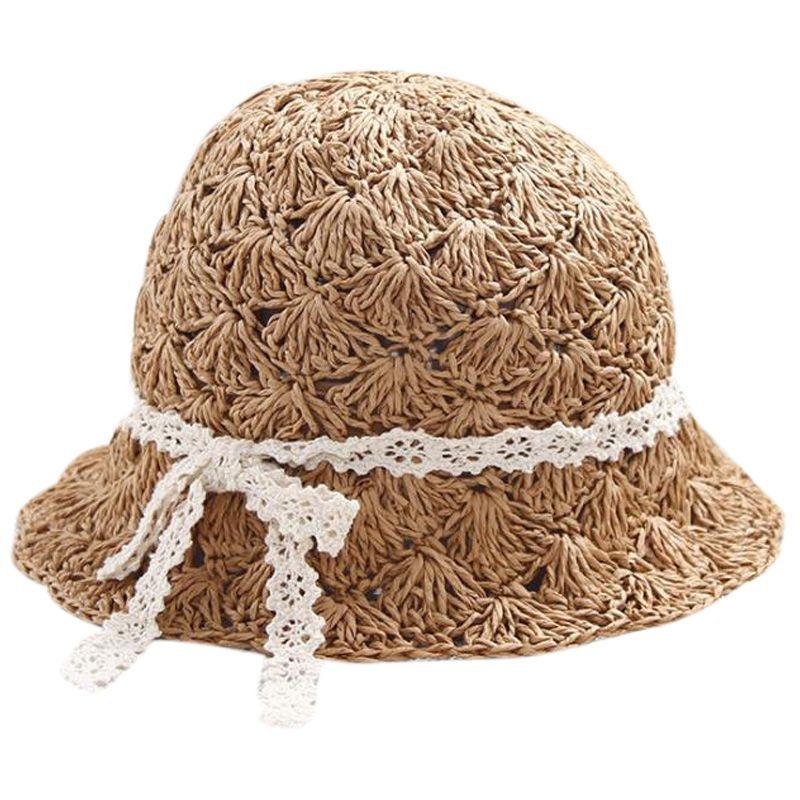 Новые Пляжные Шляпы Ручной Работы Для Девочек Шляпы Для Девочек Родитель-Ребенок Солнцезащитные Шляпы Летняя Соломенная Шляпа Для Девочек Хаки
