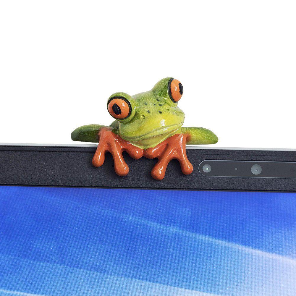 Resina creativa Craft 3D Frog decorazione sveglia mini rana Stick Office Desk Computer Decor Per Desktop TV Auto regalo a casa