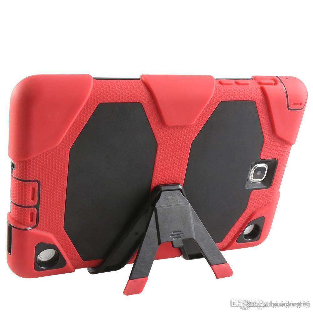 Hochleistungsstoßfester schroffer Auswirkungs-hybrider starker Rüstungs-Fall für iPad 2 3 4 5 6 MiniSamsung Galaxie Vorsprung 3 4 P3200 P5200 T330 T230 A T350 DHL