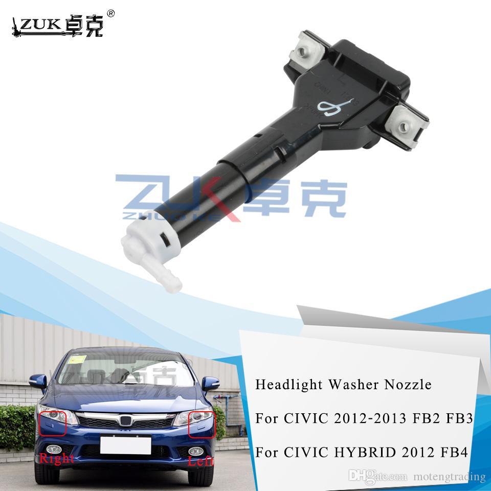 ZUK Head light Head lamp Washer Nozzle Headlight Headlamp Water Spray Jet For HONDA CIVIC 2012 2013 76885-TR0-S01 76880-TR0-S01