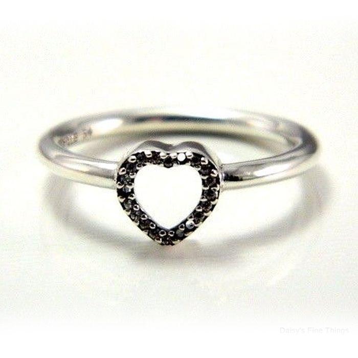 amor mayor-barato anillos 50 S925 ataques de plata para la pulsera estilo pandora Marco del rompecabezas Corazón del anillo 196549CZ H8ale