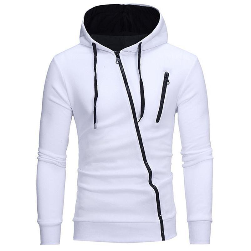 Мода с капюшоном на молнии куртки вскользь пальто осень и зима вокруг шеи с капюшоном с длинным рукавом Теплый спортивный пальто