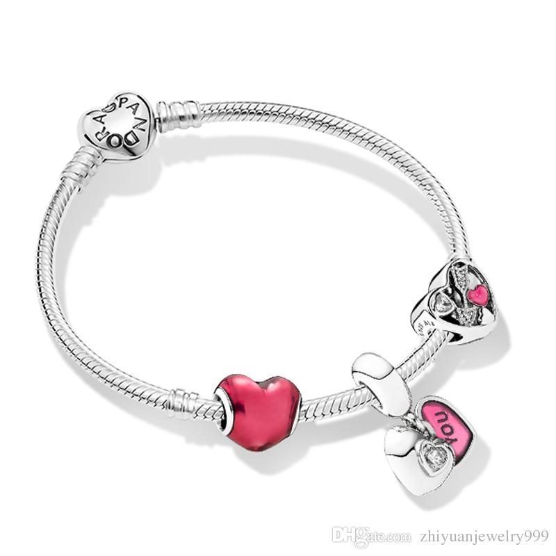 Acheter 2019 Cadeaux De Saint Valentin Bracelets Damour Pandora 925 Bijoux  En Argent Sterling Originaux 1: 1 Qualité Paquet Complet Cadeaux De 87,12 €  ...