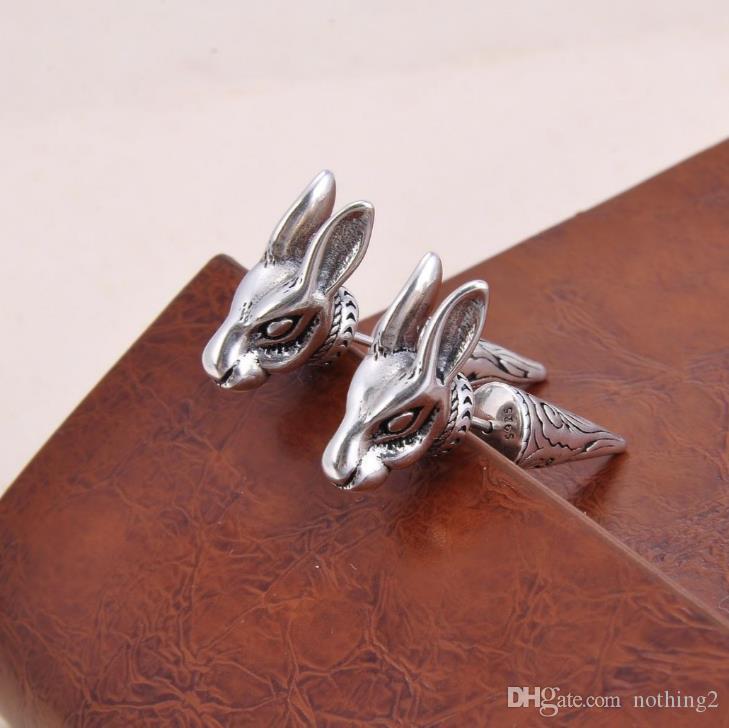 Top diseñador de joyas pendiente 925 Aretes de mujeres y hombres de plata de ley y platino Aroo kang joyería