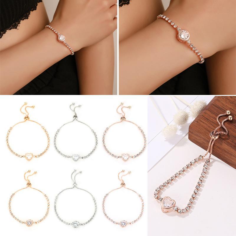 Braccialetto del braccialetto dei monili delle donne semplice decorazione del regalo fascino per la festa nuziale FO Vendita