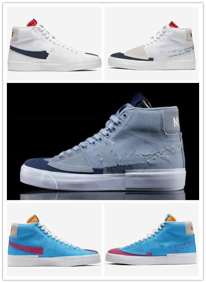 Nuovo Blazer Mid bordo Hack pack Aqua Soulland FRI.day 03 Snakeskin Sketch Mens Sneakers Casual Shoes Trainer Skateboard Blazer Scarpa 45