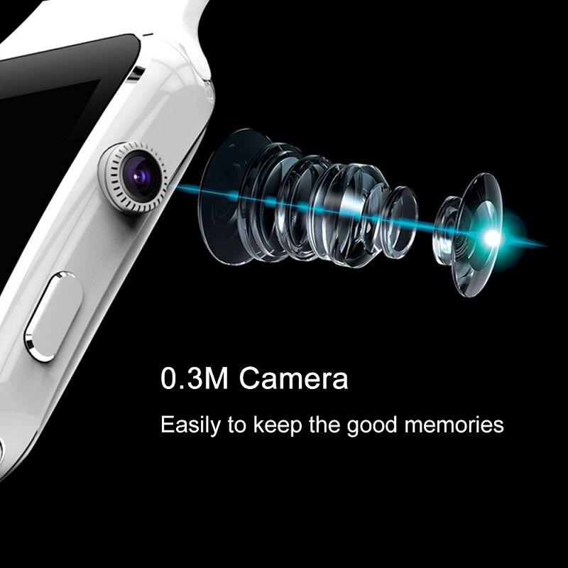 Смарт-часы X6 с сенсорным экраном камеры Поддержка SIM-карты TF Bluetooth SmartWatch для iPhone Xiaomi Android Phone