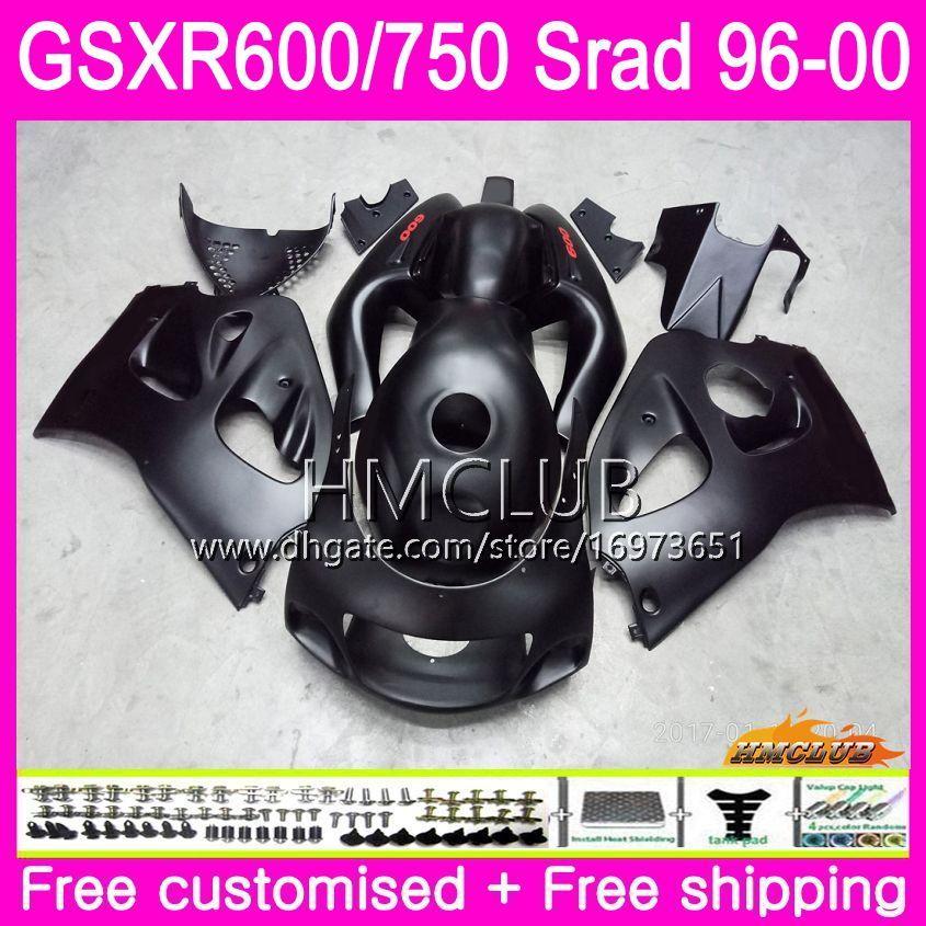Body For SUZUKI SRAD GSXR 750 600 1996 1997 1998 1999 2000 Kit 1HM.9 GSX-R750 GSXR-600 GSXR750 GSXR600 96 97 98 99 00 Fairing Matte black