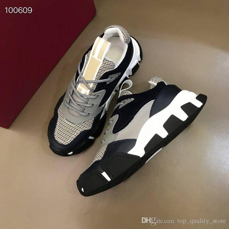 2019 Ventilation NOUVELLE Boîte Originale En Cuir Véritable RUN AWAY Designer Sneakers Mode Femmes Chaussures formateurs hommes Couleur Mixte 38-45