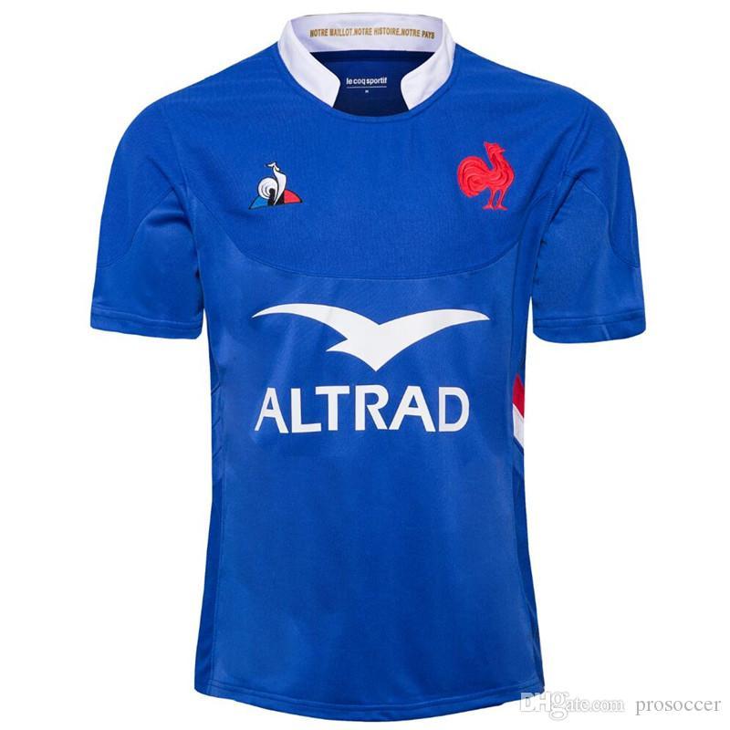 França 19/20 Adultos Rugby Camiseta Camisa Francia Maillot Camiseta Maglia Tops S-5XL TRIKOT Camisas Kit Tops