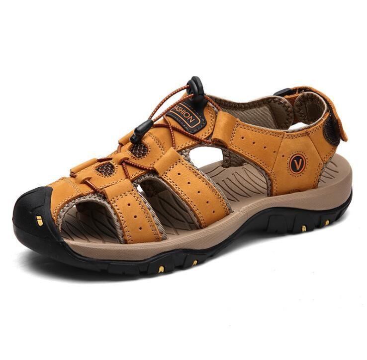Классический стиль мужские сандалии дышащая удобная мужская летняя обувь из натуральной кожи гладиаторы сандалии римская распродажа ADF-0077