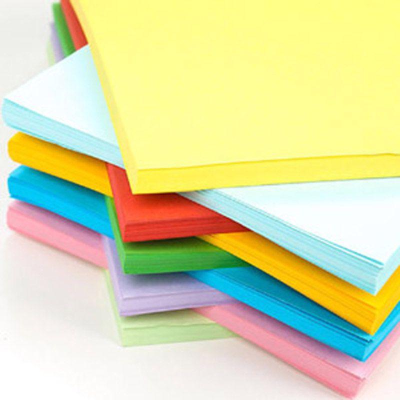 10 colori A4 70g fatti a mano fai da te colore origami 100 fogli di copia fronte-retro la stampa di carta formato A4 a colori miscelati bambini origami creativo